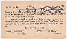 NEW YORK BROOKLYN ROYAL ARCANUM EMPLOYMENT AGENCY, DEMPSEY & SULLIVAN, 1913