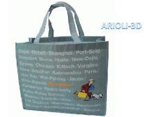 TINTIN SNOWY Waterproof grey shopping bag 48cm x 38cm MOULINSART HERGE NEW 4221
