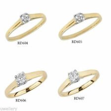 Yellow Diamond Solitaire Fine Rings