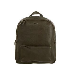 RRP €310 BLAUER Leather Backpack Grainy Panel Adjustable Strap Zip Closure