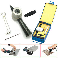 Double Head Sheet Nibbler Metal Cutter Holder Tool Power Drill Attachment Kit US