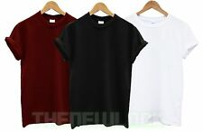 PLAIN GILDAN COTTON T SHIRT TOP TEE GIFT HOLIDAY TSHIRT SUMMER HEAVY MENS WOMENS