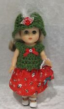 """Made to fit 8"""" GINNY Vogue  #53 Top, Hat, Skirt & Purse,  Handmade doll clothes"""