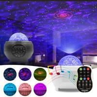 LED Galaxy Starry Night Light Projector Ocean Sky Star Party Speaker Dance Lamp