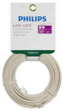 Philips 50' Almond Telephone Line Cord SWL6171H/17 Fax Modem VOIP RJ11 Lot of 6
