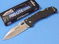 """COLD STEEL 20NU PRO LITE SPORT stonewash finish lockback knife 4 5/8"""" closed NEW"""