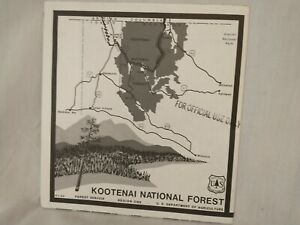 USDA Forest Service Topographical Map KOOTENAI NATIONAL FOREST Montana 1985 VTG
