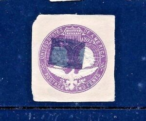 USA #U349 ~ 1893 Columbian Expo PSE Cut Square w/ Bold Fancy Solid Square Cancel