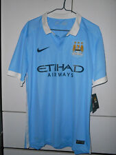 **Nike Authentic Soccer Football Manchester City 2015-16 Jersey Fans Home L