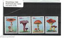 1986 Mozambique Mushrooms SG 1120/3 MUH Set of 4