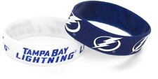 TAMPA BAY LIGHTNING - SILICONE BRACELETS - 2 PACK - BRAND NEW - NHL-BC-207-20