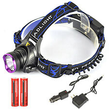 6000LM XML T6 LED Headlamp Linterna Frontal Luz Cabeza  2x18650 UE/Car Cargador