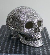Butler and Wilson Swarovski SILVER Crystal Skull Ornament in Box RRP £895 ONLY 1