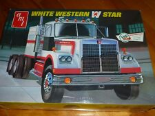 WESTERN STAR WHITE TRACTOR TRUCK AMT 724 MODEL KIT PLASTIC 1/25 SEALED F/S