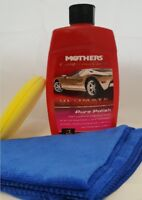 473ml Mothers California Gold Ultimate Wax System With Cloth And Applicator Pad