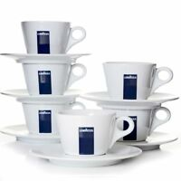 Lavazza Milchkaffeetassen mit Untertasse Blu Collection 6er Set