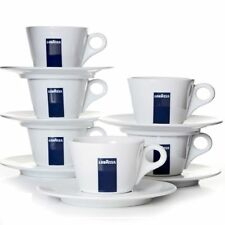 Original Lavazza Milchkaffeetassen mit Untertasse Blu Collection 6er Set