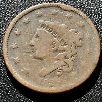 1836 Large Cent Coronet Head One Cent 1c Circulated Rare CUD #15446