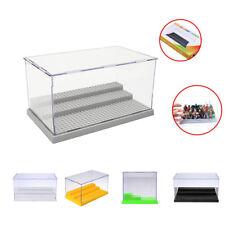 Lego 3 Steps Minifigure Display Case Dustproof ShowCase Grey Base! SPECIAL!