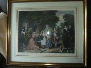 LARGE VINTAGE FRAMED ART PRINT, WILLIAM REDMOND BIGG, THE BENEVOLENT HEIR