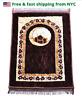 Muslim thick Mat,Islamic Prayer Rug janamaz Turkish Padded Sajda Plush Mat brown