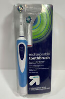 Up & Up Rechargeable Toothbrush 2 Flossing Brush Heads, 1 Handle & Charging Base