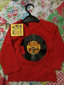 UK Designer Vinyl Record T Shirt, Age 18-24 Months, Cute for DJ Gift / Baby Rave