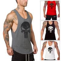 Punisher Skull Men Gym Muscle Shirt Tank Top Bodybuilding Sport Fitness Vest