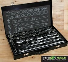 "TYPHOON TOOLS 1/2"" Drive Socket Set 43 Piece AF & Metric - Lifetime Warranty"