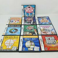 Nintendo DS Puzzle and Trivia Lot of 10 Games - Brain Age, Sudoku, Crosswords