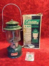 Vintage 1965 Coleman Two Mantel Green Lantern 220F195  Lantern w/ Box