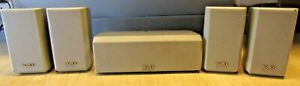 Sony Satellites SS-MSP2 & Center SS-CNP2 Speakers For Home Stereo System SILVER