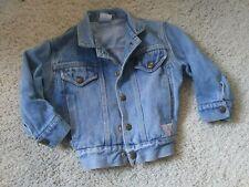 Baby GUESS Vintage Medium Blue Denim Girls Jean Jacket 24 Months 1980's