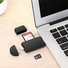 USB-C Memory Card Reader 3 In 1 Micro Type OTG Adapter USB 2.0 Portable For PC