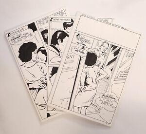 1987 Tito Marchioro BD Fumetti ELVIFRANCE Complet 30 PLANCHES ORIGINALES