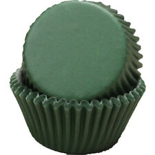 DARK GREEN SOLID COLOR - CUPCAKE LINERS - 100 Ct. Standard Size