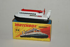 MATCHBOX SUPERFAST #72 SRN6 HOVERCRAFT, WHITE & RED, EXCELLENT, BOXED