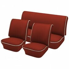 1958 - 64 Volkswagen VW Bug OEM Classic Seat Upholstery, Front & Rear, Brick Red