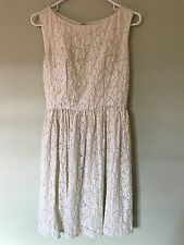 *FRENCH CONNECTION** FLORAL LACE DRESS SIZE 6 IVORY SHIMMER