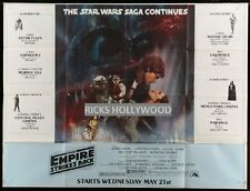 Original 1980 NEW YORK SUBWAY Star Wars EMPIRE STRIKES BACK Recalled Advance