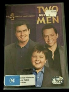 Two And A Half Men : Season 4 :(2008: 4 Disc DVD Set)Brand New Sealed Plastic R4