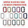 For Apple Watch 5 4 3 2 1 Wrist Case Tempered Glass FULL COVER Screen Protector