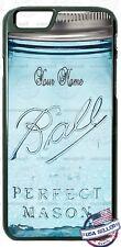 Glass Mason Jar Customized with Name Phone Case for iPhone Samsung Google etc