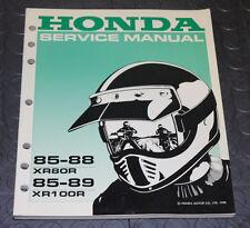 NOS OEM Honda Service Shop Manual NEW 85-88 XR80R 85-89 XR100R XR 80 R XR 100 R