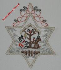 PLAUENER SPITZE Fensterbild VOGELHAUS Fensterbilder STERN Weihnachten SCHNEEMANN