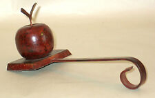 "9.5"" Apple Shape Hanger Holder Fireplace Mantle Holiday Distressed Metal FREE SH"