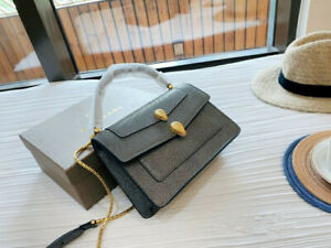 Bvlgari Serpenti Forever Cross-body Shoulder Bag Gray for Women