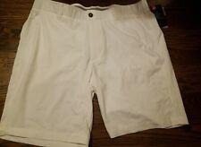 "UNDER ARMOUR 10"" SHORTS WHITE NEW NWT 1309547 RETAIL $65.00  Size 38"