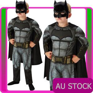 Licensed Kids Batman Costume Superhero Child Book Week Boys Halloween Jumpsuit