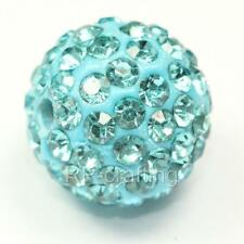 U Pick 10 x Top Quality Sparkle Crystal Disco Ball Charm Spacer 12mm Beads